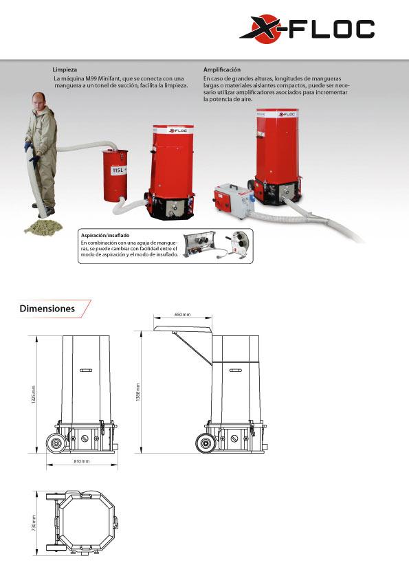 Máquina de celulosa-M99-DS Pro-X-floc